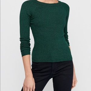EXPRESS Black Fitted Ribbed Sweater